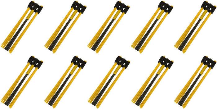 Kwern Ersatz Bürstensatz Poly/Stahl Mix 10x3 für Roadsweeper