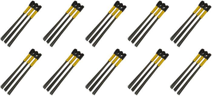 Kwern Ersatz Bürstensatz Stahl 10x3 für Roadsweeper