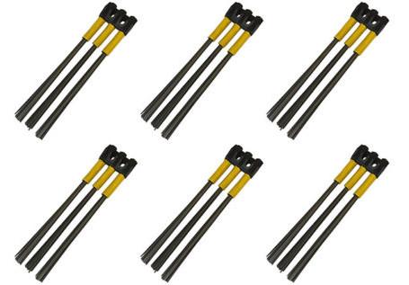 Kwern Ersatz Bürsten 6x3 Stahl für Roadsweeper